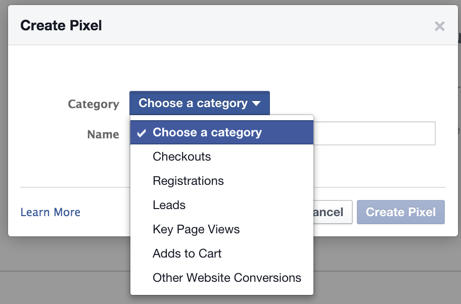 facebook-conversion-pixel-wordpress-category