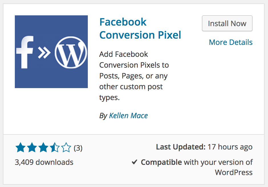 facebook conversion pixel wordpress plugin