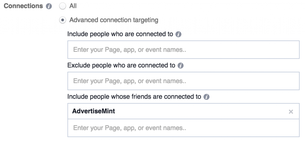 facebook connections