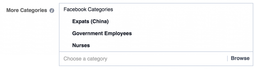 facebook ad targeting nurses government employees