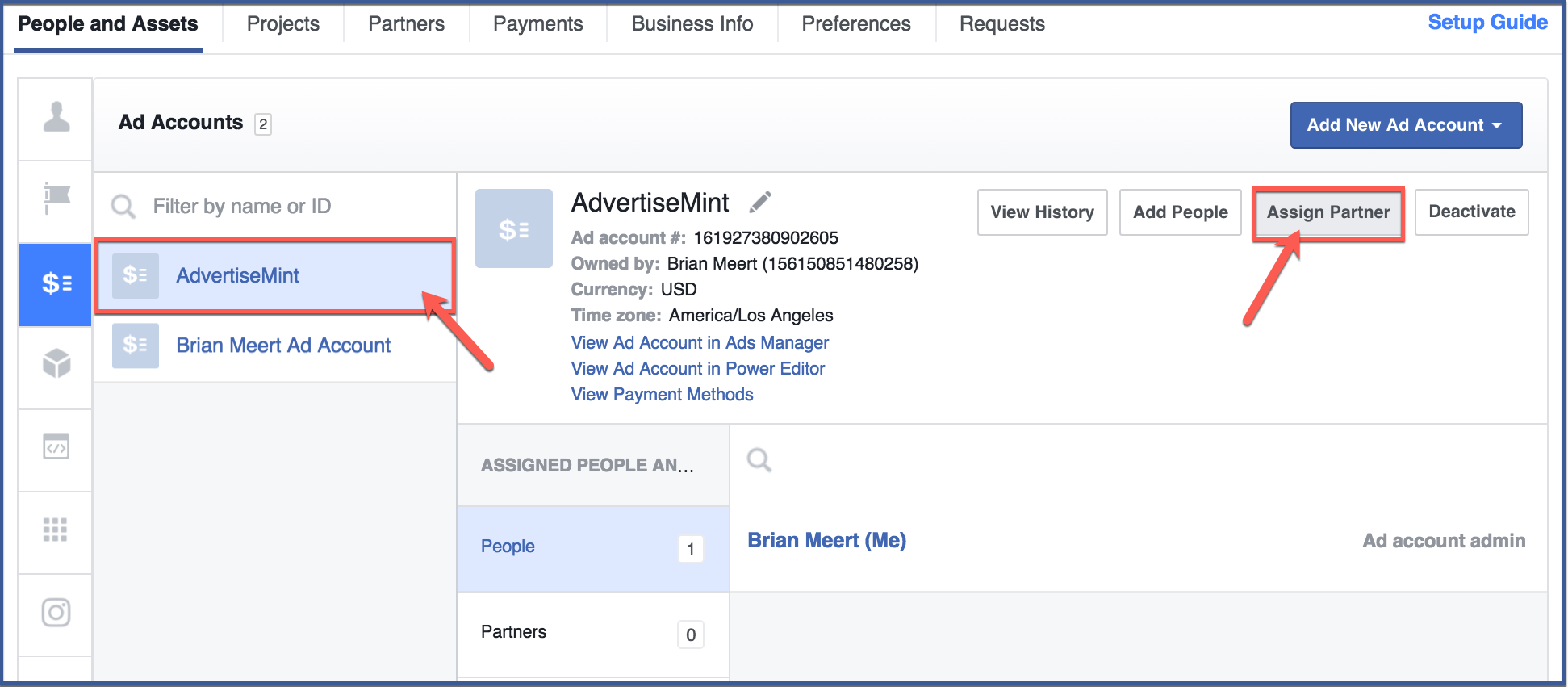 How to Assign a Partner to Your Facebook Business Manager Ad Account