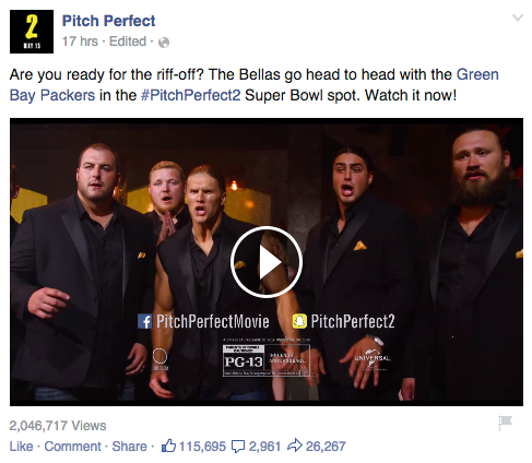 Pitch Perfect 2 Facebook Ads