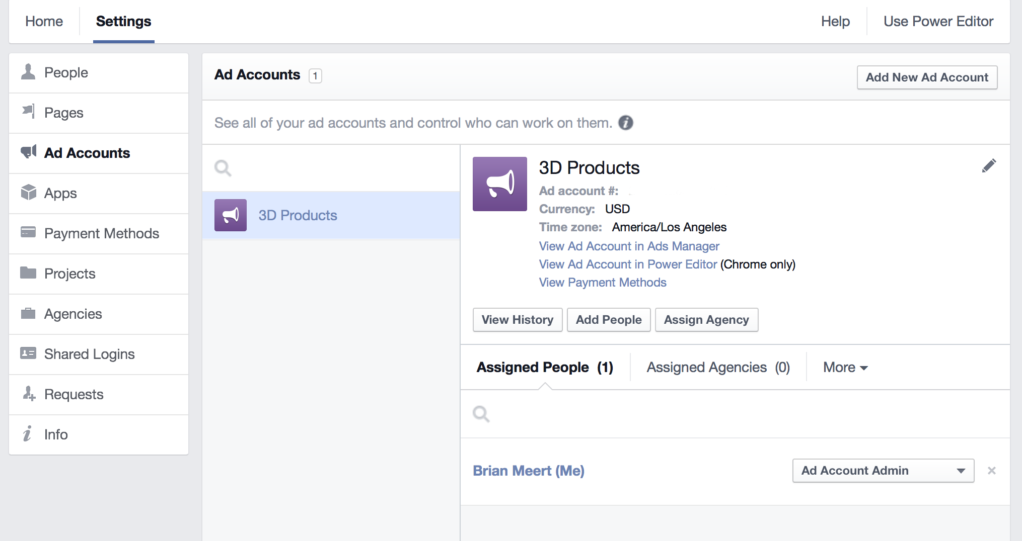 Assign agency to facebook ad account 7