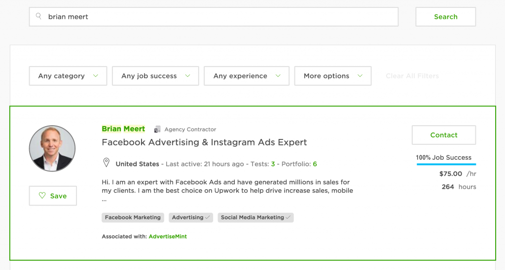 how to hire advertisemint on upwork advertisemint