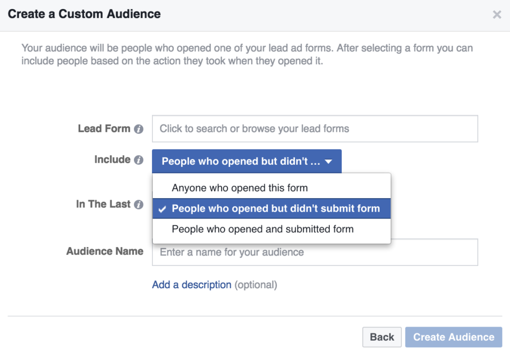 creating-lead-form-remarketing-list-facebook-ads-step-3