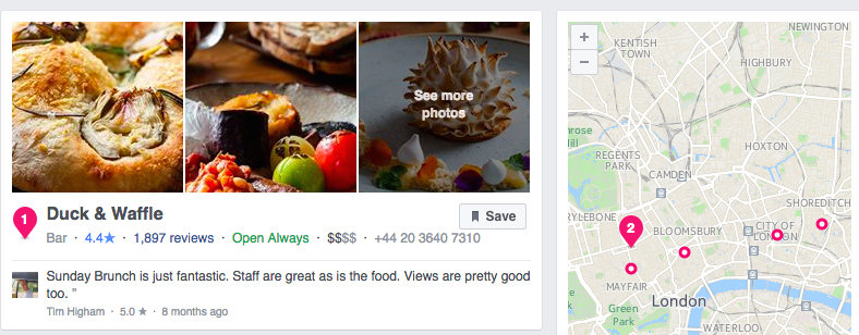 Facebook reviews and ratings promote business 1
