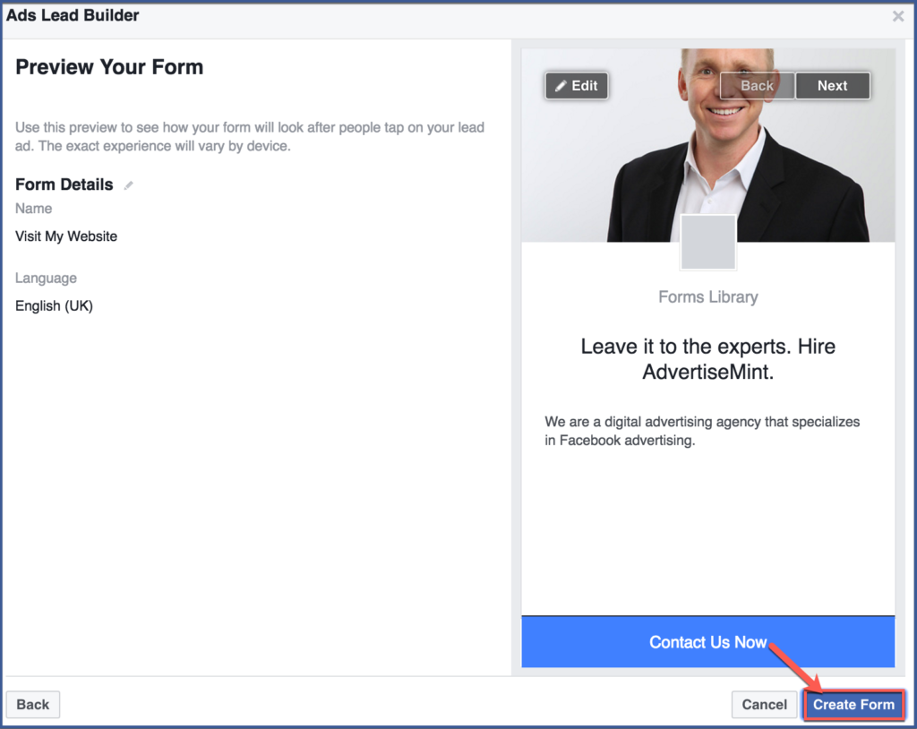 How to Create a Lead Ad through Your Facebook Fan Page