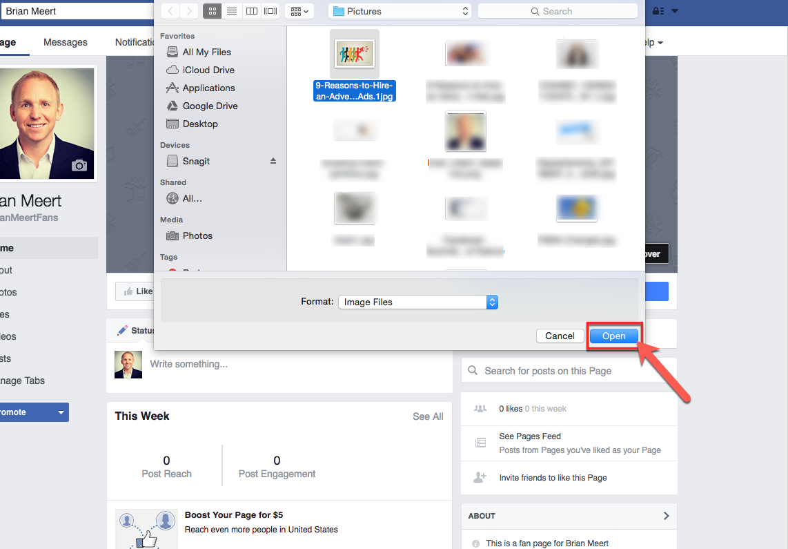 how to change page cover photo on facebook