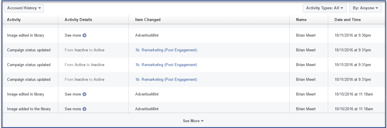 How to View Your Facebook Ads Manager Account History | AdvertiseMint