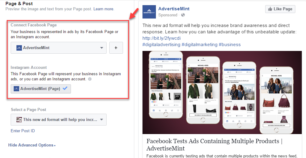 Facebook advertising objective boost your post advertisemint facebook advertising objective boost your posts3 ccuart Gallery
