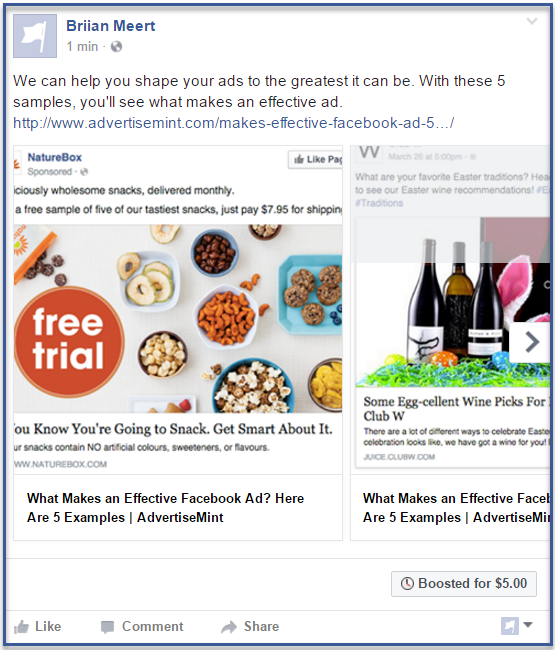 How to Create a Facebook Boosted Post | AdvertiseMint