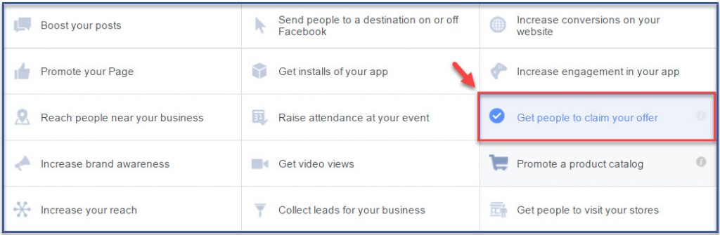 facebook-advertising-objectives-get-people-to-claim-your-offer1