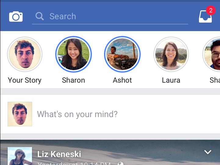 Facebook Tests Facebook Stories