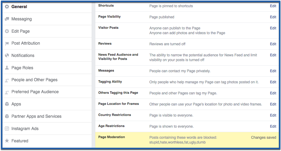 How To Block Words And Profanity On Your Facebook Page Advertisemint