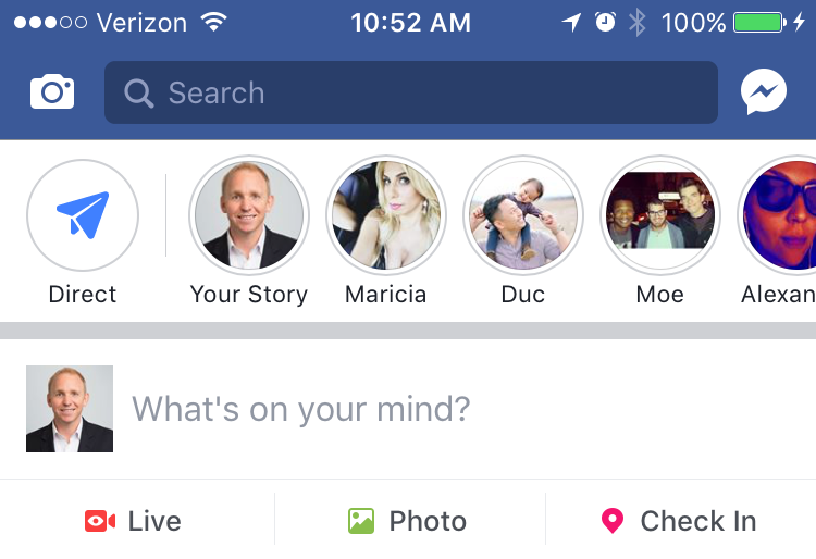Facebook Rolls Out Facebook Stories