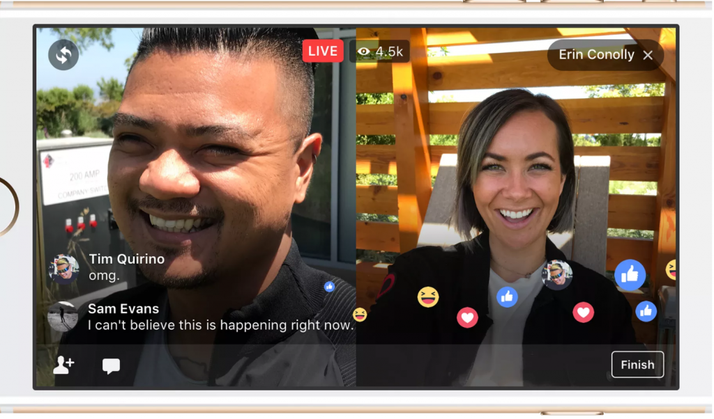 Facebook Live Lets You Add a Colleague to Your Broadcast