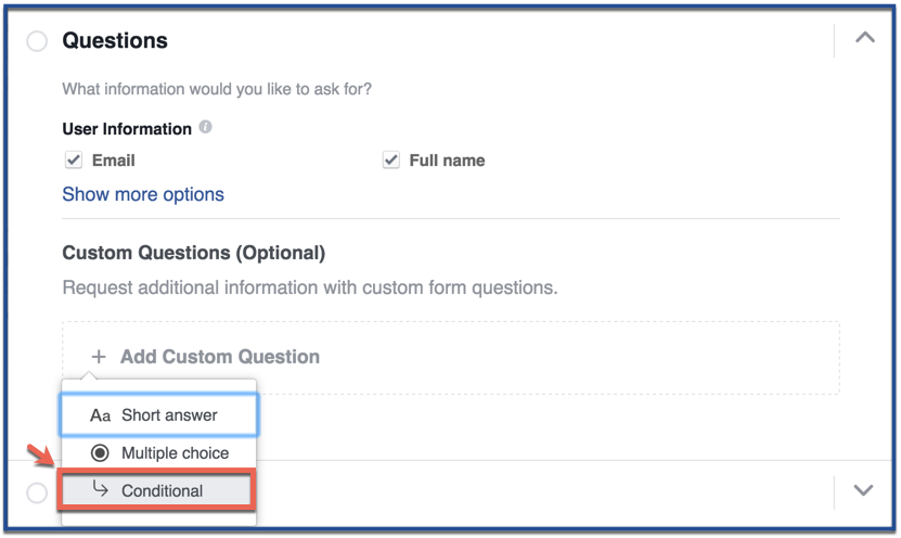 How to Create Conditional Answers for Lead Ads | AdvertiseMint