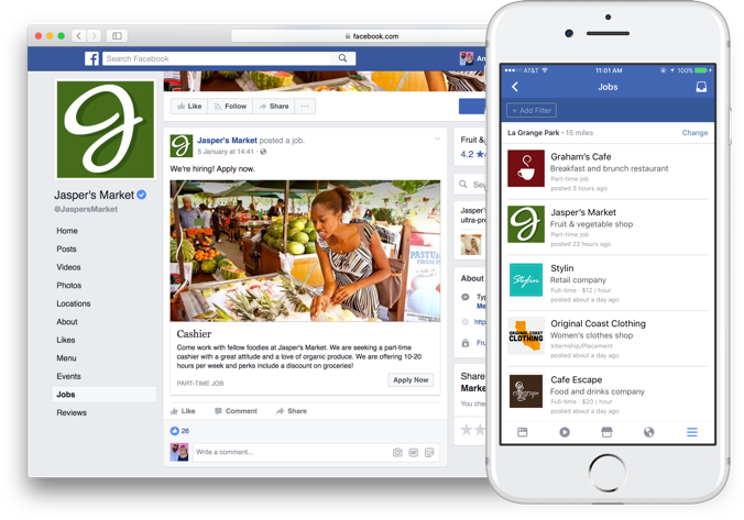 Facebook and Zip Recruiter Work Together to Boost Job Postings
