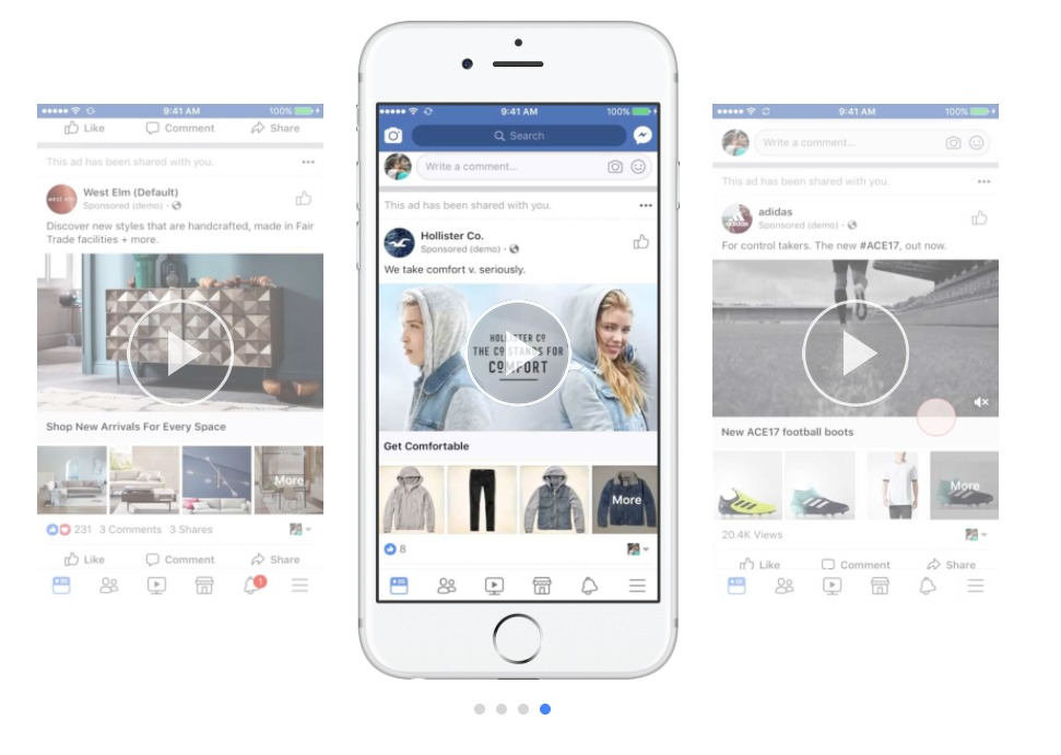 Facebook's New Lifestyle Layout Brings Canvas Collection Ads to Life