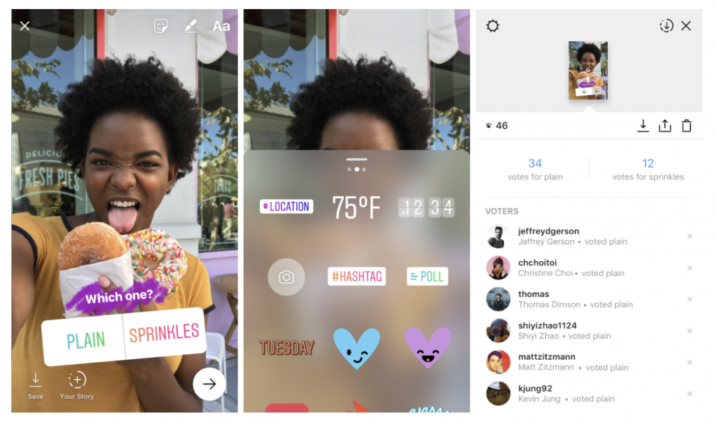 New Instagram Poll Sticker Color Picker And Alignment Tool