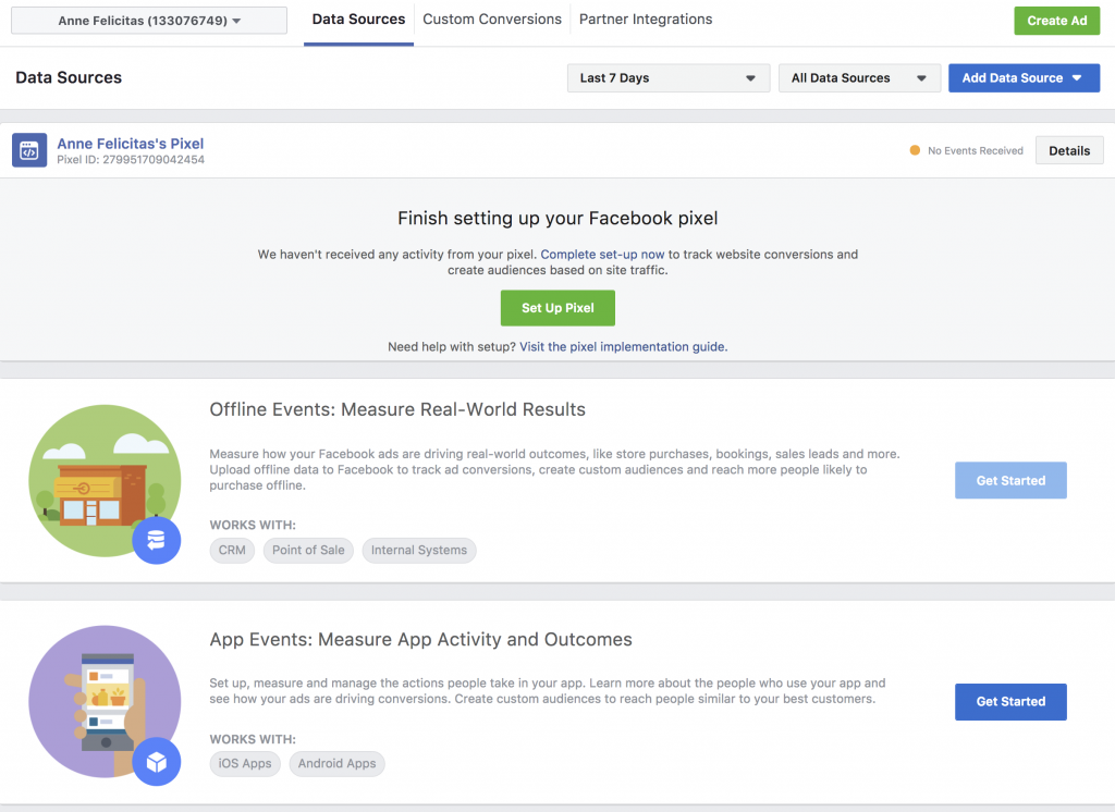 Facebook Launches Data-Source Management System, Events Manager