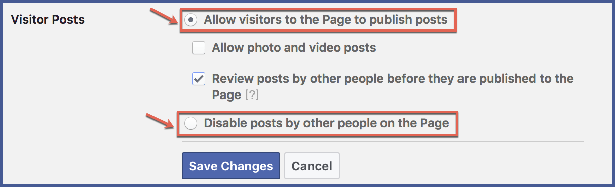 How to Control What Visitors Post on Your Facebook Page