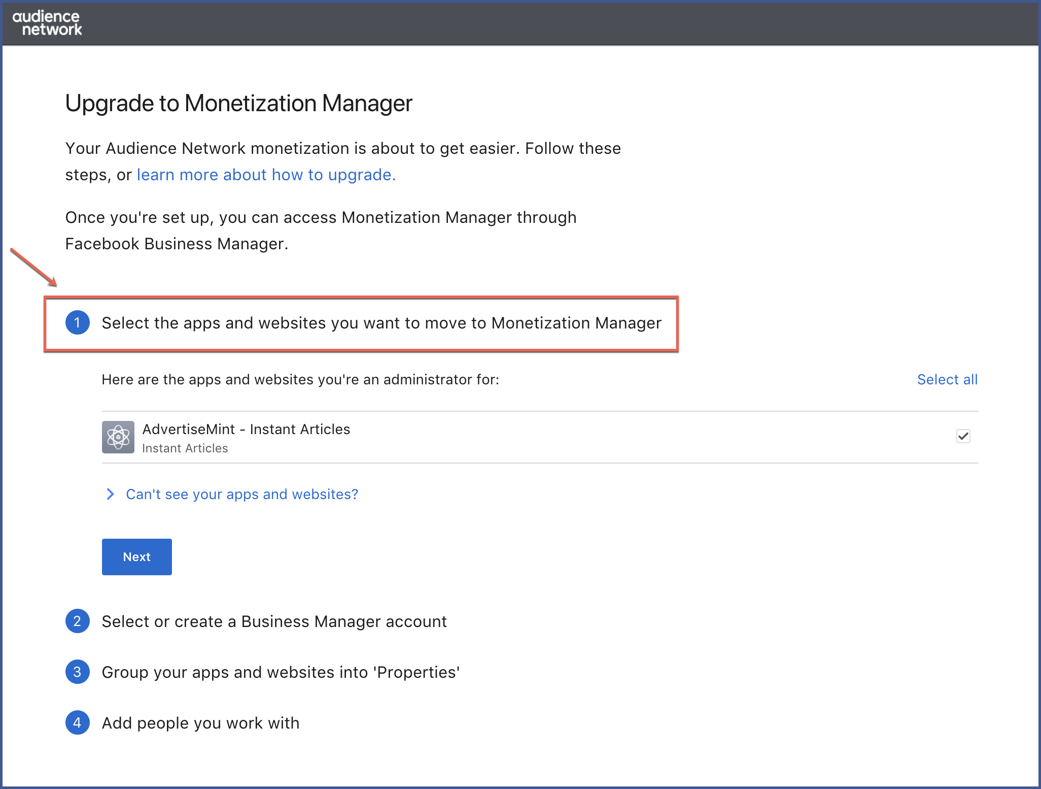 how to create business manager account