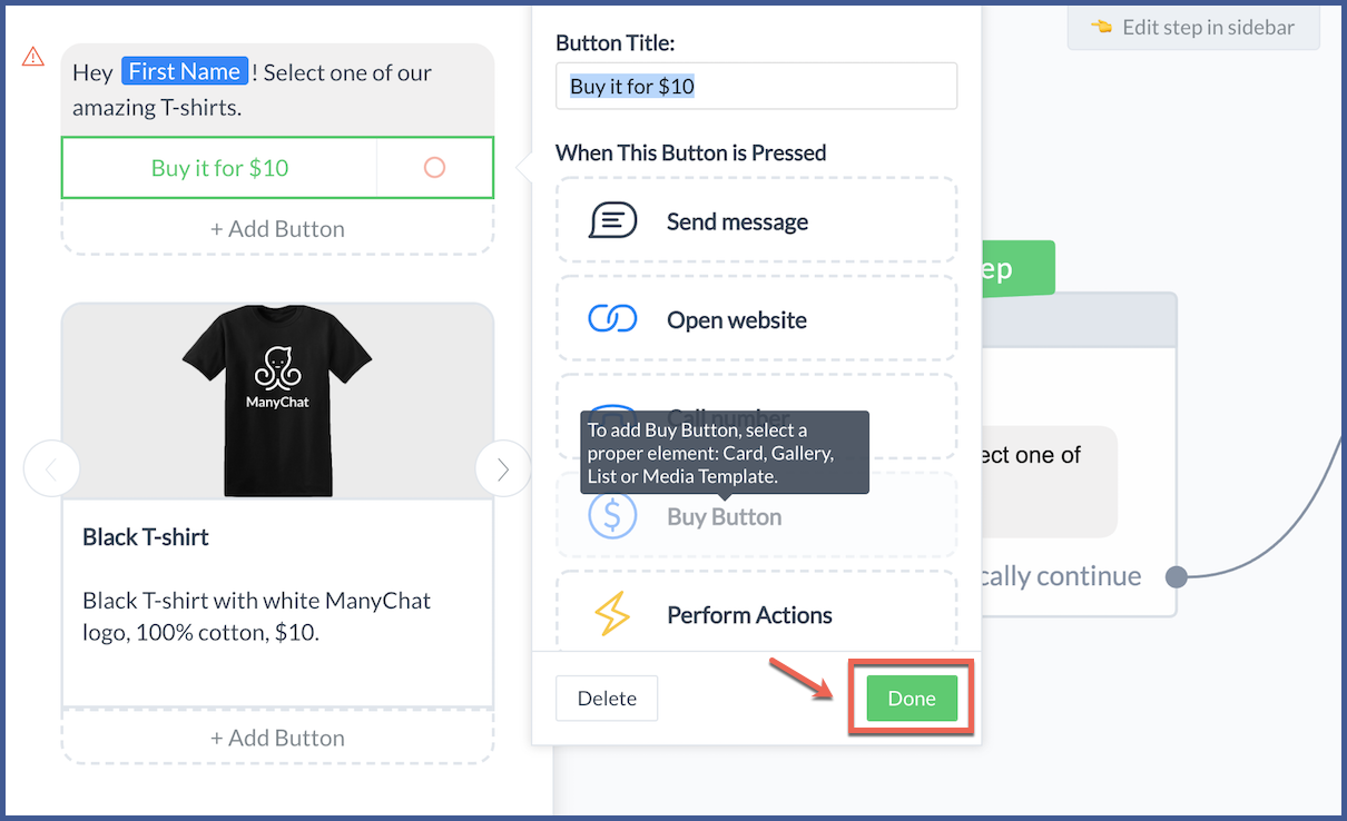 How to Sell Your Products on Facebook Messenger with ManyChat