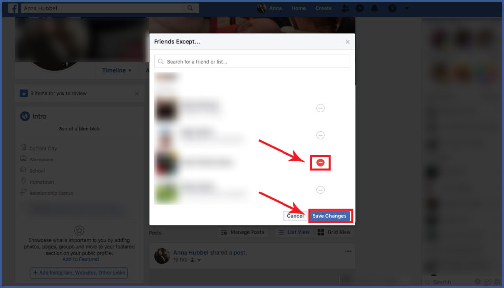 Hide Your FB Post from a Specific Person | Facebook Ad