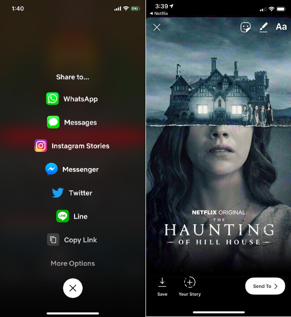 Share Netflix Recommendations to Instagram Stories Using New iOS Feature
