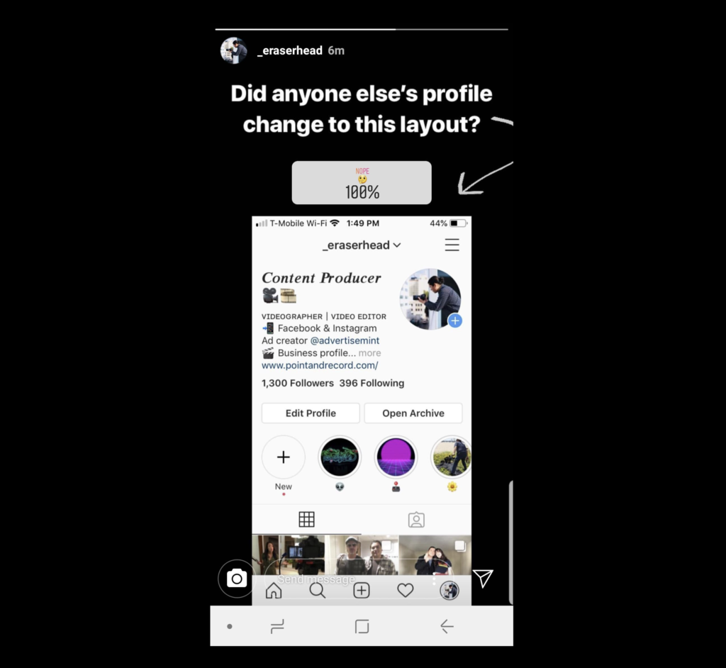New Instagram Profile Test Is Showing Up on Users' Apps