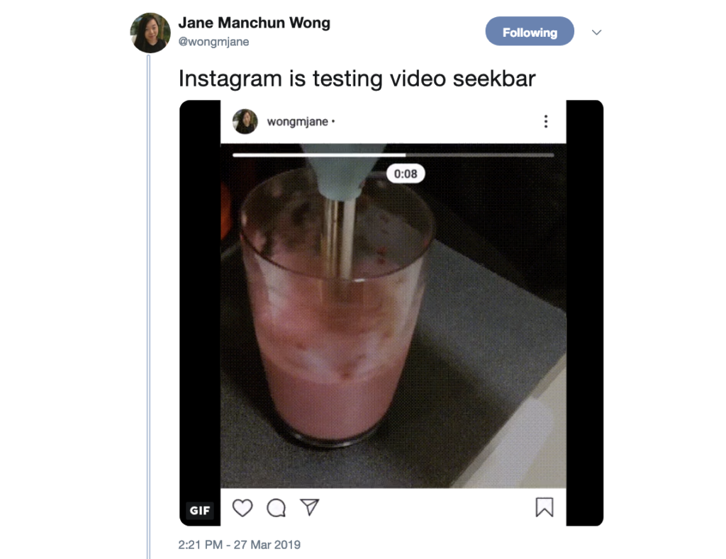 Instagram Tests Feature That Lets You Fast Forward Feed Videos